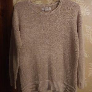 Loft tan crocheted sweater